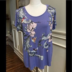 Max Jeans scoop neck floral tunic